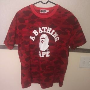 Brand new without tags Bape red camo tee! NOT VA